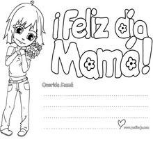 Dibujos Para Colorear Mensaje Feliz Día Mamá Eshellokidscom