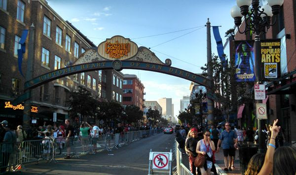 Visiting the Gaslamp Quarter in downtown San Diego, on July 25, 2014.