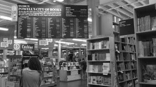 Portland - Powells Bookstore inside