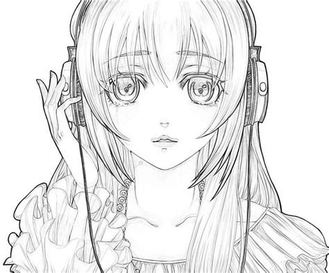 hatsune miku coloring pages coloring pages anime girl