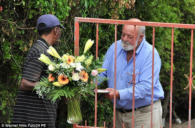 Tragic: Mr Steenkamp, a horse trainer, wept as he said he and his wife June were at 'a complete loss'