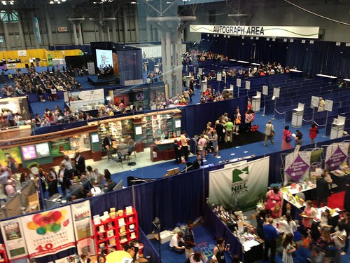 Looking down at the main exhibition floor, BEA 2013