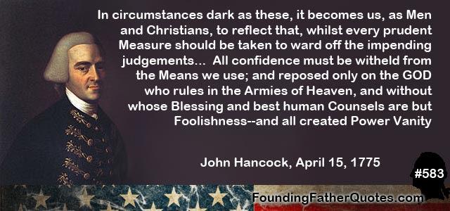 Founding Fathers Quotes John Hancock