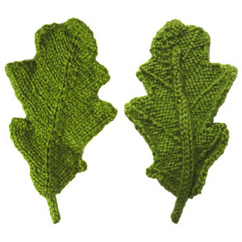 Oddknit Free Knitting Patterns Oak Leaf