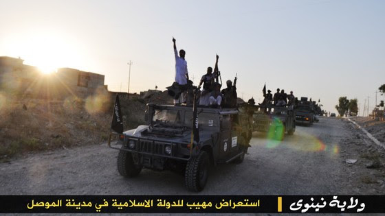 ISIS Holds Parade With Captured US Military Vehicles ISIS Mosul Parade 6 thumb 560x315 3337