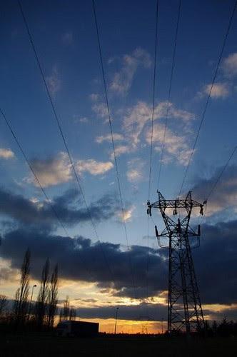 coucher de soleil électrique.