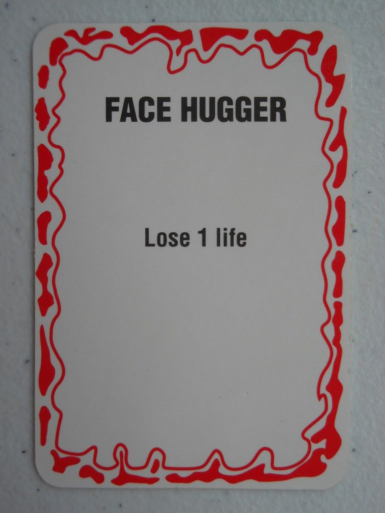 Operation: Aliens Face Hugger card