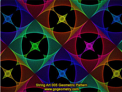 String Art 05: Bézier curves, Geometric Pattern, Symmetry, Software.