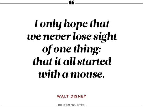 Walt Disney Quotes It All Started With A Mouse Walt Disney Quotes