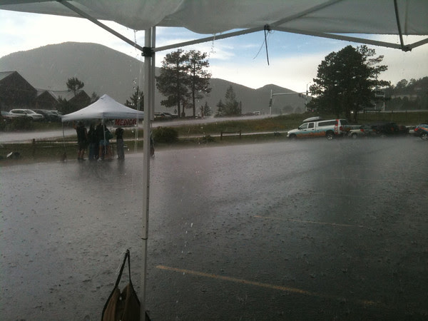 Nothing clears the finish line like hail and lightning.