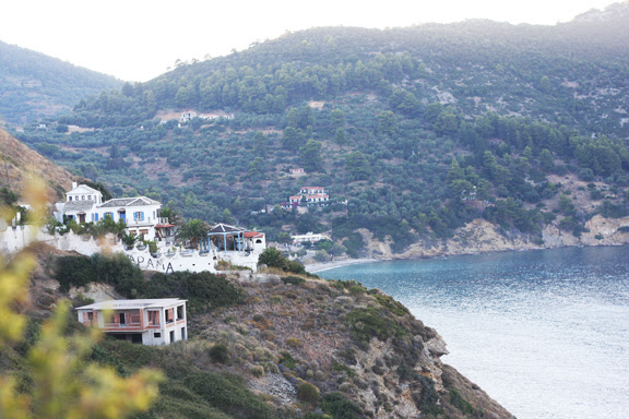 Skopelos, the old town, view to A. Konstantinos