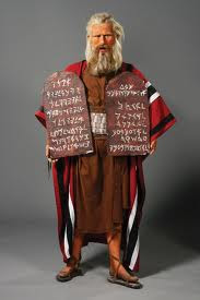 Charlton Heston as 'Moses,' The Ten Commandments (Paramount, 1956). Wax figure in Hollywood Wax Museum, later displayed in the Branson show, from LiveAuctioneers.com, used w/o permission.