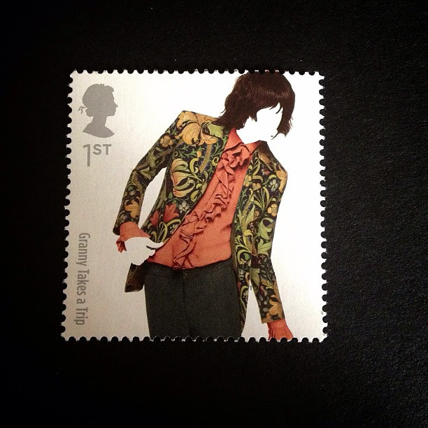 Day 2: Flowers. A floral jacket #flower #man #stamp #postagestamp #british #uk #londonfashionweek #psjune #postalsociety