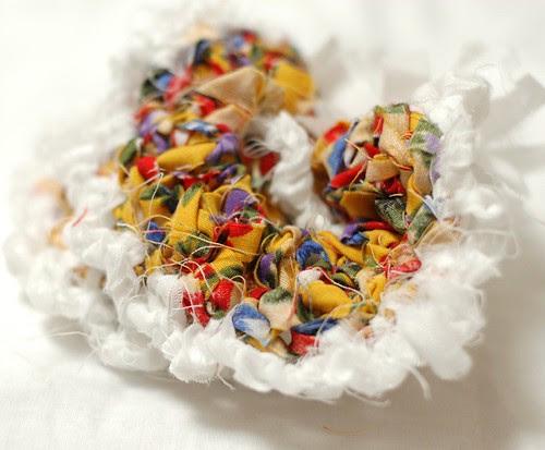Fabric crochet scrunchie