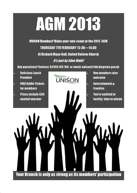 Branch AGM 2013 - Kingston Unison Local Government Branch