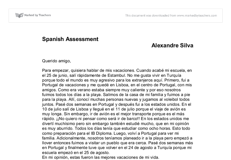 how to write essays in spanish