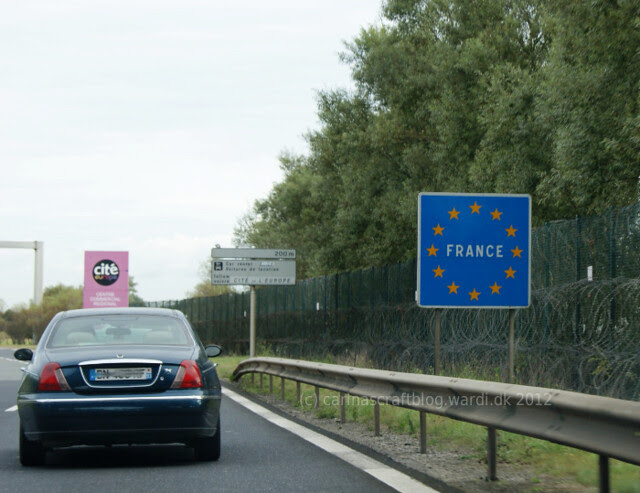 French border - coming off the Eurotunnel train