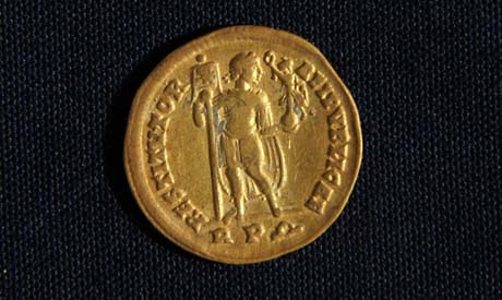 one of the coins discovered