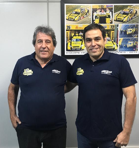 Amadeu Rodrigues e o engenheiro Gustavo Camara