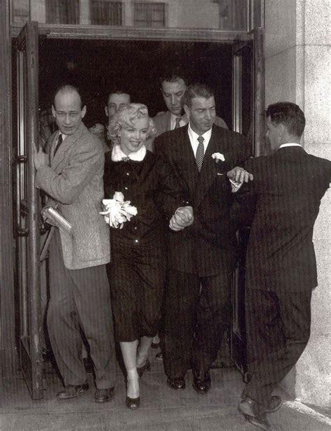 Wedding day for Marilyn Monroe and Joe DiMaggio, San