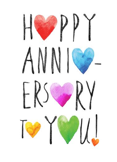 Funny Anniversary Card Happy Anniversary Hearts From Cardfoolcom