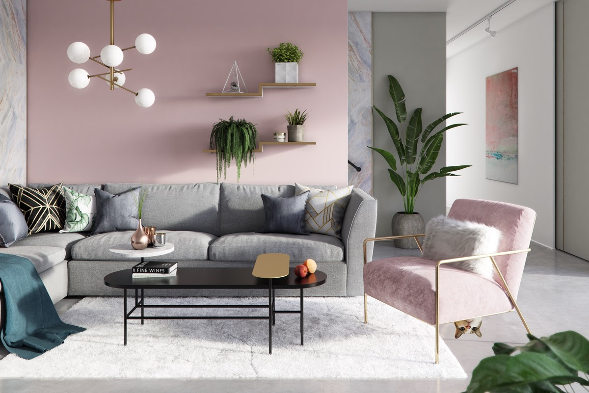 26 Pink Living Rooms With Tips, Ideas And Accessories To Help You