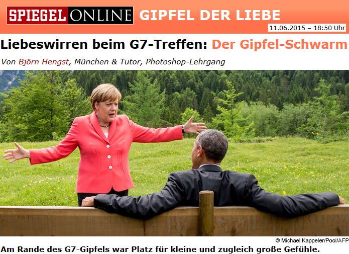 Liebeswirren: Obama & Merkel