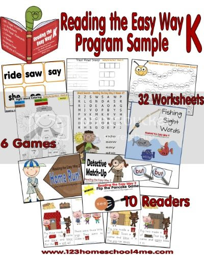 Reading the Easy Way Kindergarten - Program at a Glance