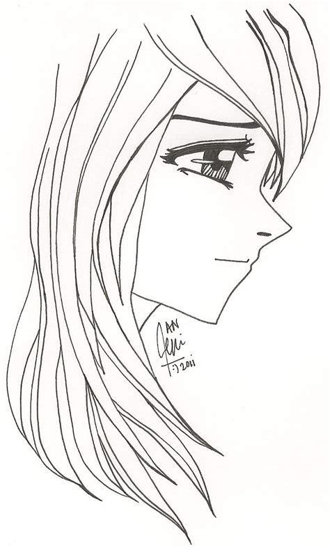 side face girl  yashitanao  deviantart