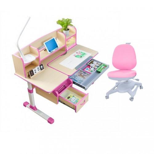 Children Kids Ergonomic Study Desk With Adjustable Swivel Chair Set
