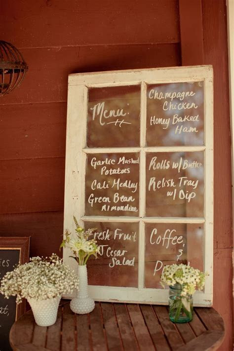 Creative Wedding Menu Display Ideas