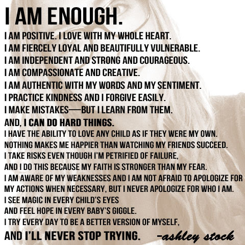 I Am Enough Little Miss Momma