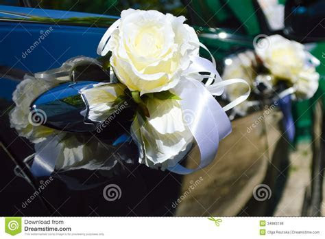 Beautiful Wedding Car Decoration Stock Photo   Image of