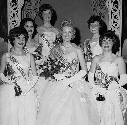 A 16 year old Diane Sawyer as pageant queen (image hosted by http://homelessinportland.tumblr.com)