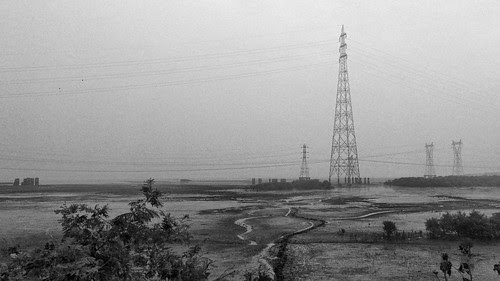 Mudflats and Pylons