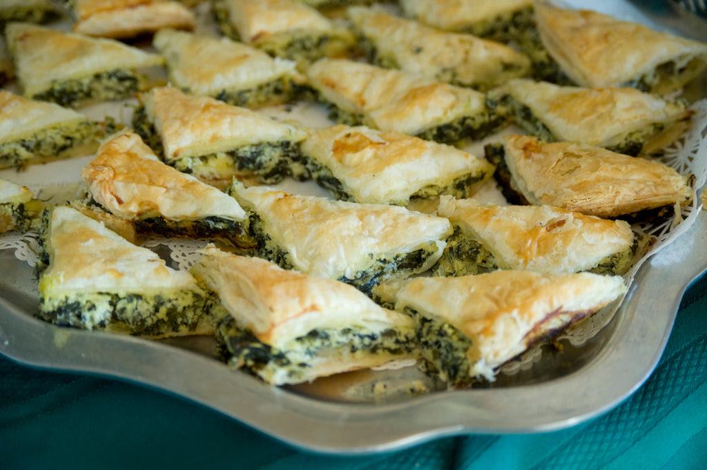 Spanakopita - Greek Spinach Pies - New York Steak ...