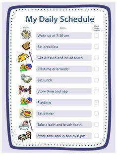 Morning routine chart for children | Niño, Niños y Gráficos