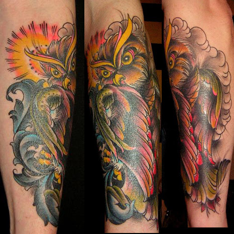 Owl Tattoo On Forearm Tattoo Picture