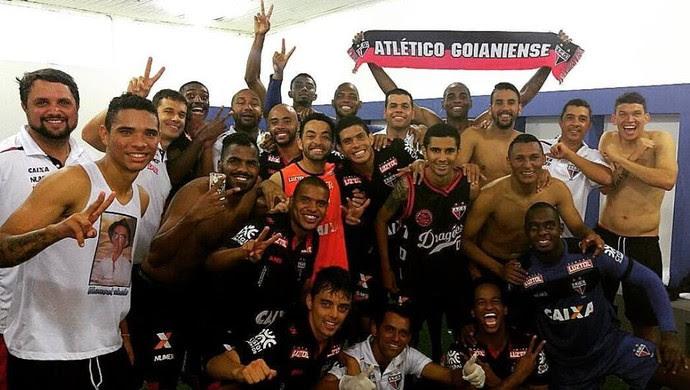 Atlético-GO comemora acesso para a Série A (Foto: Divulgação / Atlético-GO)