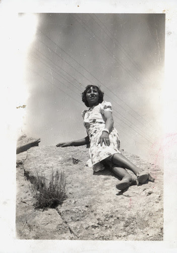 Girl on rock