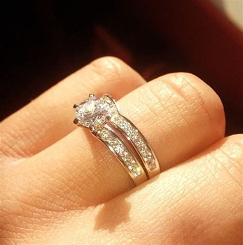 Wedding rings shaped to fit engagement rings   HELLO!