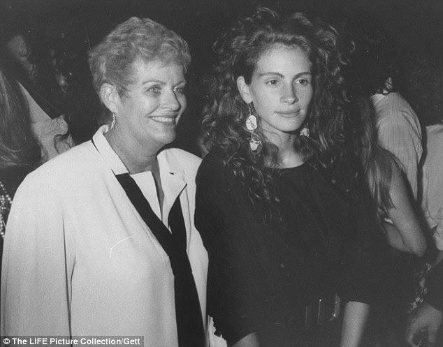 Shared love: The actress' mother ran a dramatic arts school. They shared a love of the arts. Pictured here in 1989