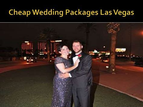 Affordable las vegas wedding package