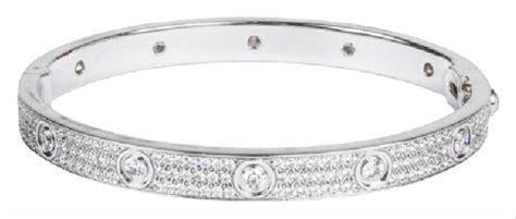 Cartier White Gold Love Pave Diamond Size 16 Bracelet