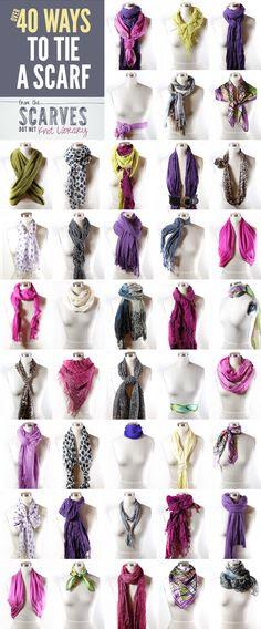 50+ Ways to Tie a Scarf