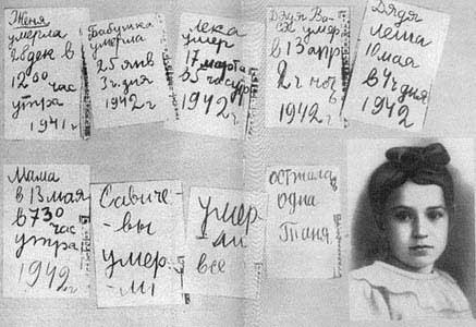 http://commons.wikimedia.org/wiki/File:Tanya_Savicheva_Diary.jpg