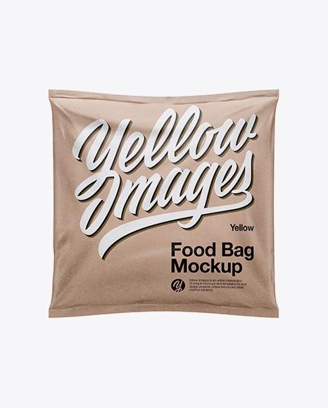 Kraft Food Bag PSD Mockup