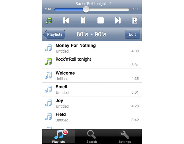 4shared music 2 4shared Music   new application for iPhones!