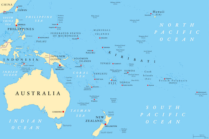 Oceania Facts For Kids Geography Continents Facts