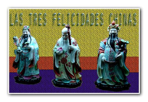 las tres felicidades chinas